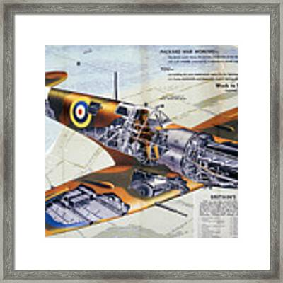 World War 2 - Spitfire Framed Print by Ericamaxine Price