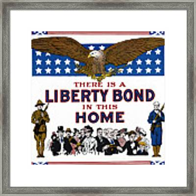 World War I Liberty Bond Ad Framed Print by Granger
