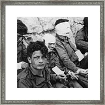 World War II D-day, 1944. For Licensing Requests Visit Granger.com Framed Print by Granger
