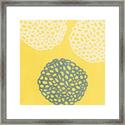 Yellow And Gray Garden Bloom Framed Print