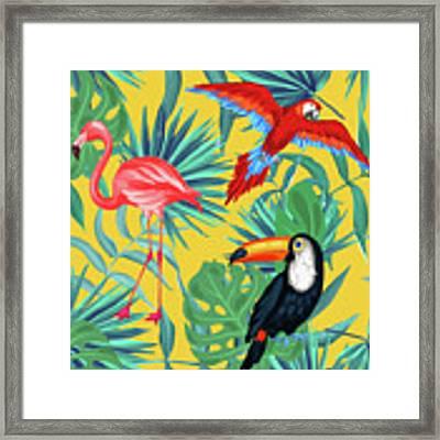 Yellow Tropic  Framed Print