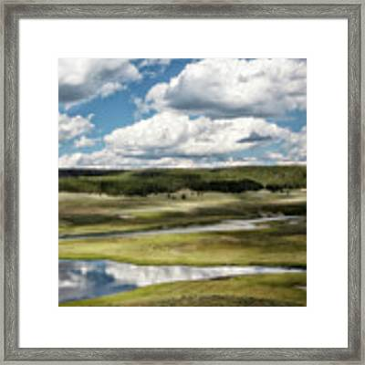 Yellowstone Hayden Valley National Park Wall Decor Framed Print by Gigi Ebert