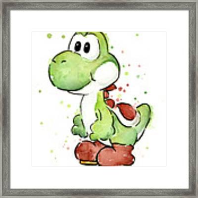 Yoshi Watercolor Framed Print by Olga Shvartsur