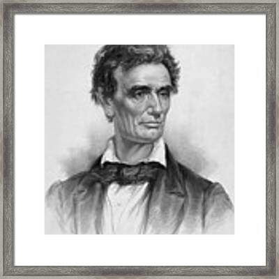 Young Abe Lincoln Framed Print by War Is Hell Store