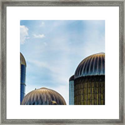 Agricultural Silos Of Rural West Virginia Framed Print by Dee Browning