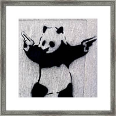 Banksy Panda Framed Print by Gigi Ebert