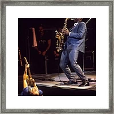 Bruce Springsteen Live Framed Print by Ed Perlstein