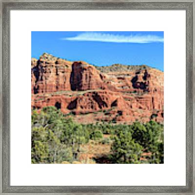 Courthouse Rock, Sedona Framed Print by Dawn Richards