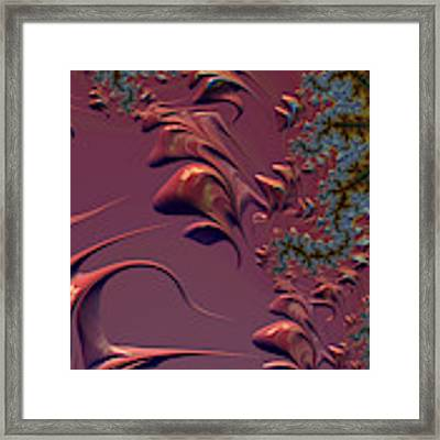Fractal Playground In Pink Framed Print by Shelli Fitzpatrick