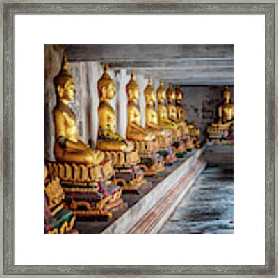 Golden Buddhas Framed Print by Adrian Evans