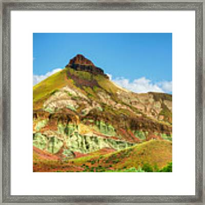 John Day Fossil Beds Sheep Rock Unit Landscape Framed Print by Dee Browning