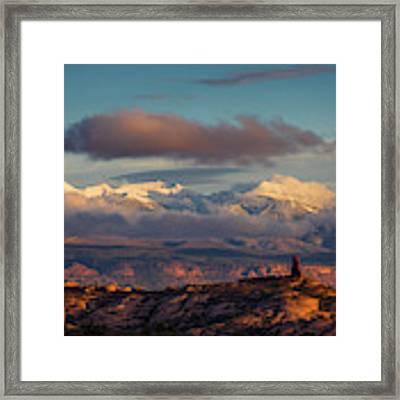 La Sal Mountains Framed Print by Scott Kemper