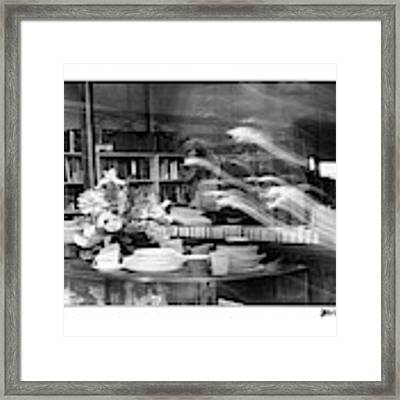 Man At Book Store Framed Print by Patricia Youngquist