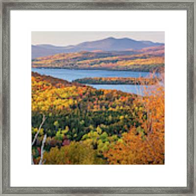 Rangeley Lake Fall Framed Print by Susan Cole Kelly