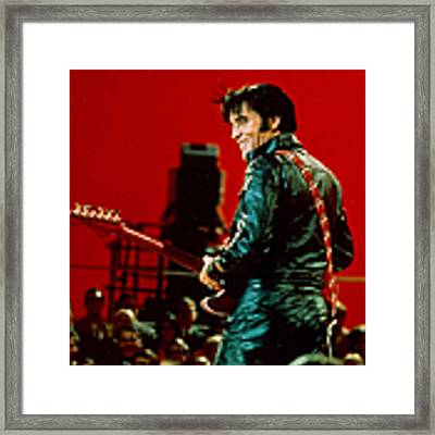 Rock And Roll Musician Elvis Presley Framed Print by Michael Ochs Archives