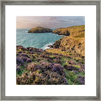 Strumble Head Lighthouse Framed Print by Elliott Coleman
