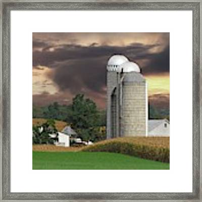 Sunset On The Farm Photo Framed Print by David Dehner