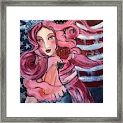 50 Stars For Venus Framed Print by Laurie Maves ART
