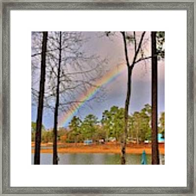 A Pot Of Gold On Lake Murray South Carolina Framed Print by Lisa Wooten