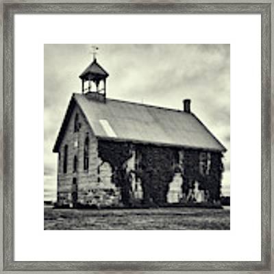 Abandoned Schoolhouse Framed Print by Garvin Hunter