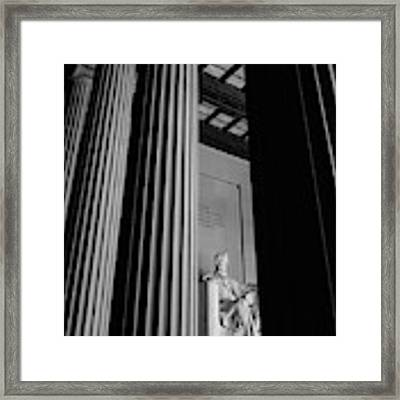 Abraham Lincoln Memorial Washington Dc Framed Print by Edward Fielding