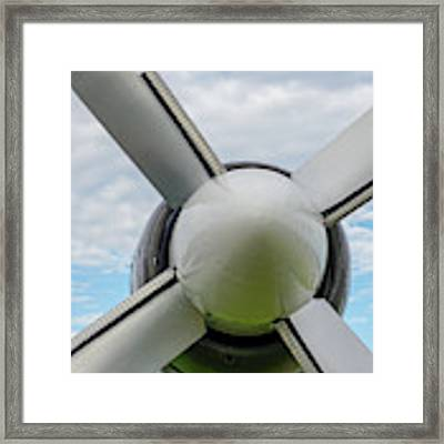 Aircraft Propellers. Framed Print by Anjo Ten Kate