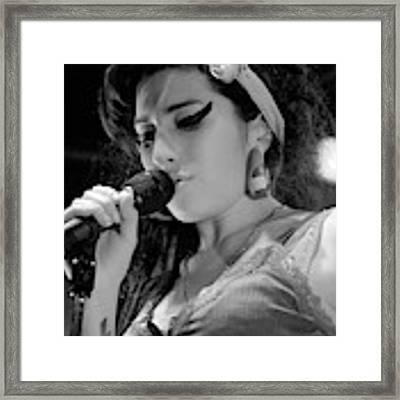 Amy Winehouse Exclusive Photos Photo 2 Framed Print by Jenny Potter