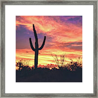 An Arizona Sunset Framed Print by Chance Kafka