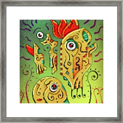 Ancient Spirit Framed Print by Sotuland Art