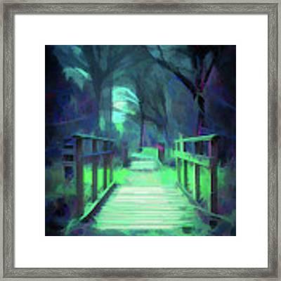 Another World - Wooden Bridge Framed Print by Scott Lyons