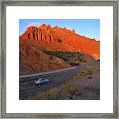 Arizona Highway  Framed Print by Chance Kafka