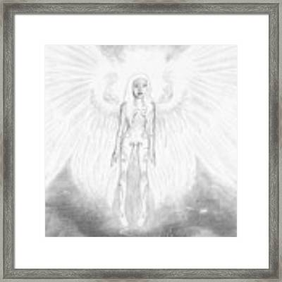 As An Angel She Realized Why - Artwork Framed Print by Ryan Nieves
