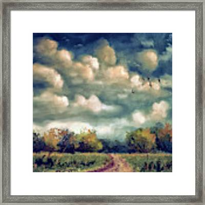 As August Slips Into Autumn Framed Print by Lois Bryan