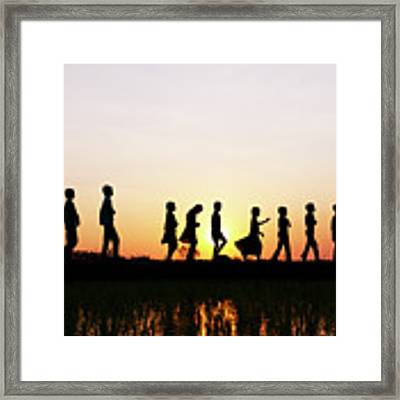 At The End Of The Day Framed Print by Tim Gainey