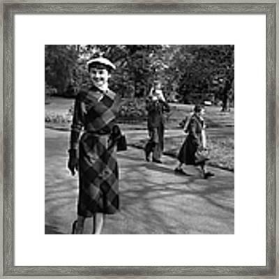 Audrey At Kew Framed Print by Bert Hardy
