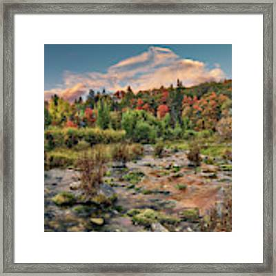 Autumn Light Reflections Framed Print by Leland D Howard