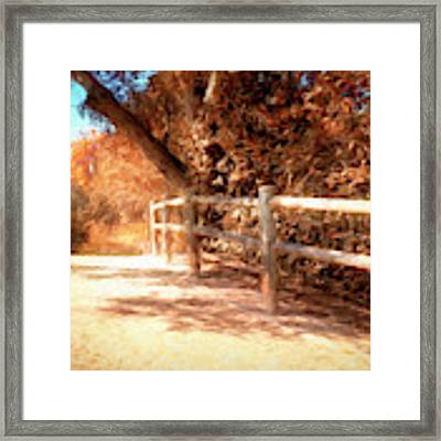 Autumn Oil Painting Framed Print by Alison Frank