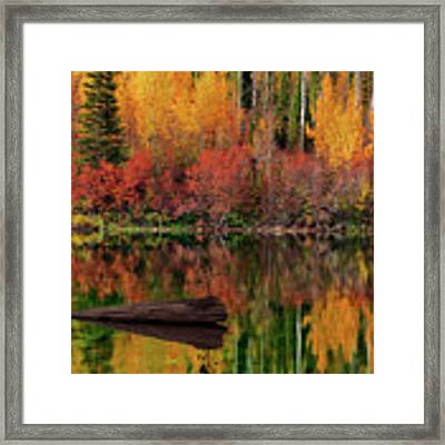 Autumn Reflections Framed Print by Leland D Howard