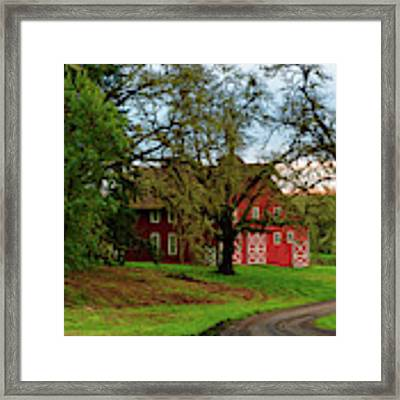 Awe Those Country Roads Framed Print by Dee Browning