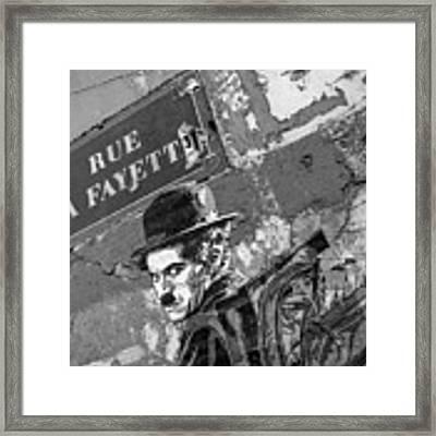 Banksy Rue La Lafayette Framed Print by Gigi Ebert