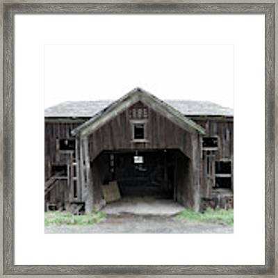 Barn 1886, Old Barn In Walton, Ny Framed Print by Gary Heller
