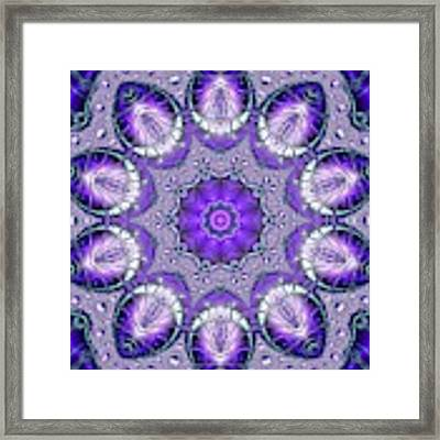 Bejeweled Easter Eggs Fractal Abstract Framed Print by Rose Santuci-Sofranko