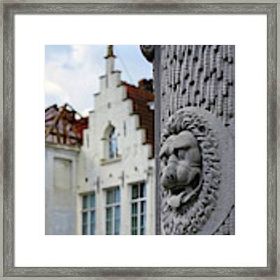 Belgian Coat Of Arms Framed Print by Nathan Bush