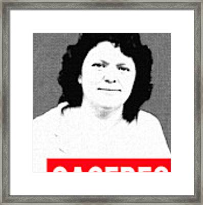 Berta Caceres Framed Print by MB Dallocchio