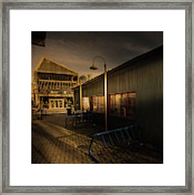 Bike Rack Framed Print by Juan Contreras