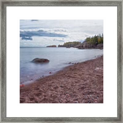 Black Beach Park Framed Print by Susan Rissi Tregoning
