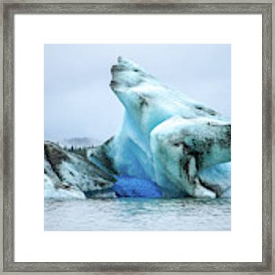 Blue Ice, Mendenhall Glacier Framed Print by Dawn Richards