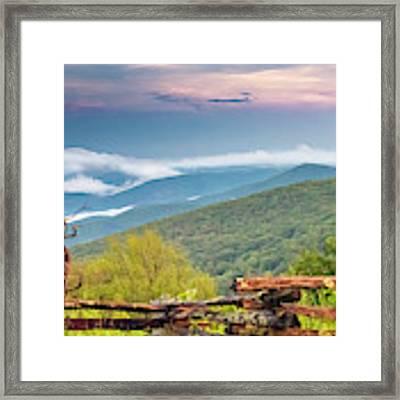 Blue Ridge Parkway View Framed Print by Ken Barrett