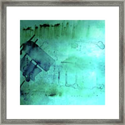 Blues And Twos Framed Print by Valerie Anne Kelly