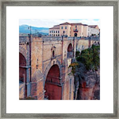 bridge  Puente Nuevo in Rondo Framed Print by Ariadna De Raadt